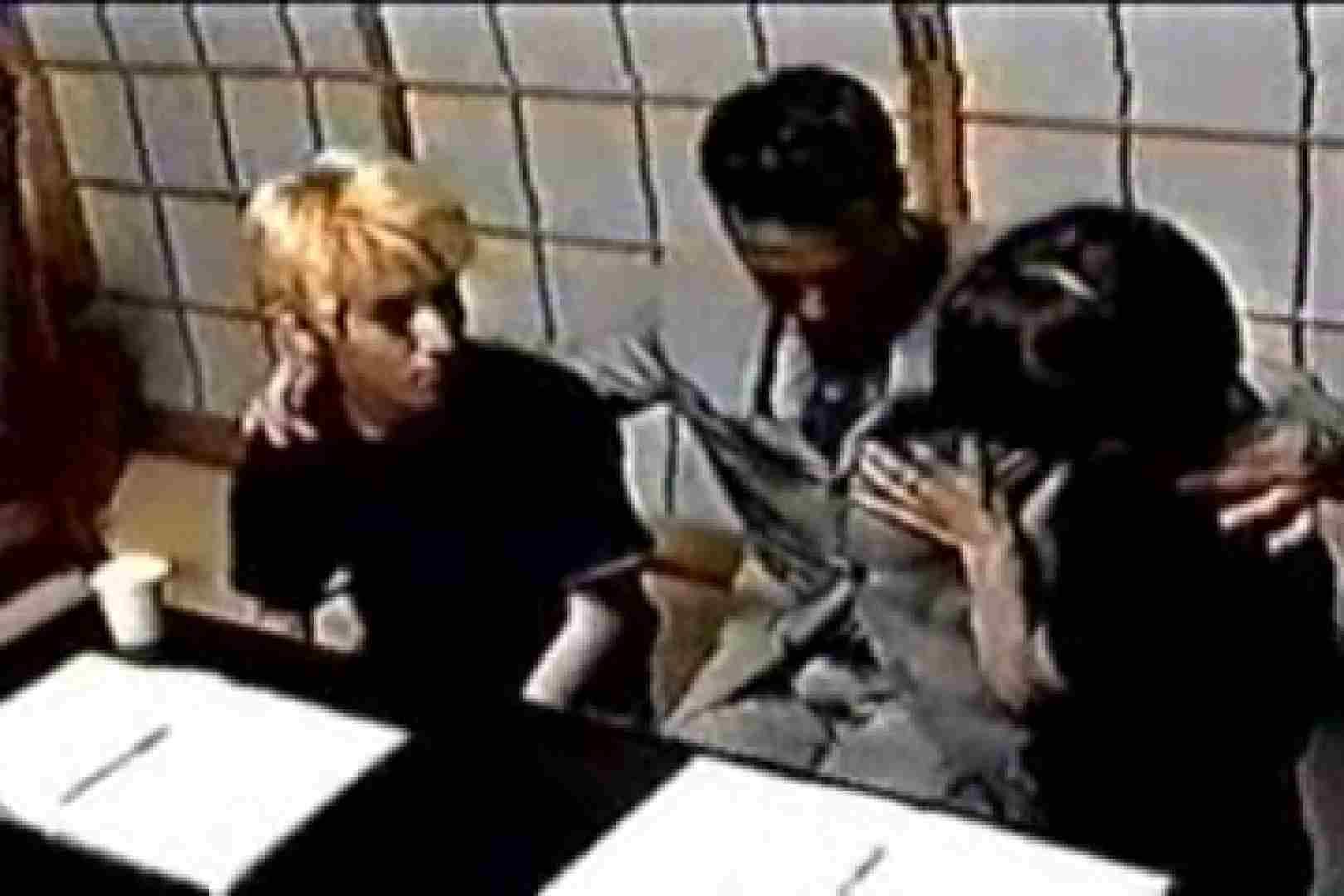 発掘!!10年前のVHSお宝ゲイ動画!! ディープキス | 連結フェラ チンコ画像 9連発 3